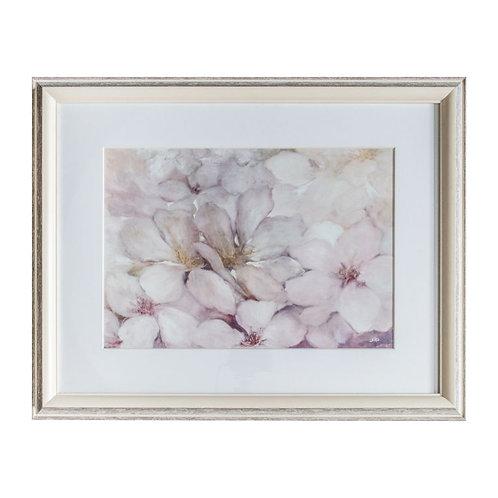 Cloudy Flowers Framed Art
