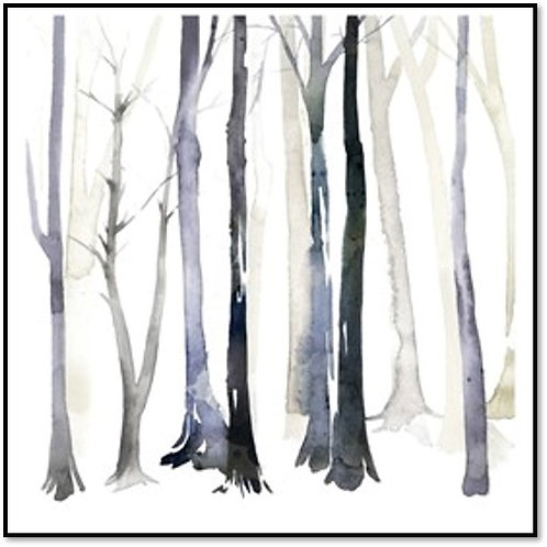 In the Forest II - Framed & Mounted Art