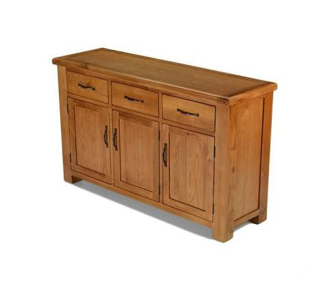 Earlswood Oak - Large 3 Drawer 3 Doors Sideboard