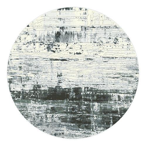 Galleria - Watermark III Circular Rug - Ice Blue
