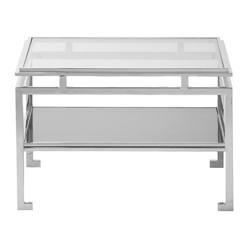 Calabria Side Table in Silver