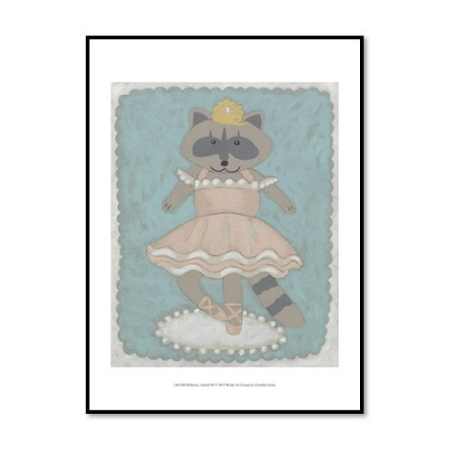 Ballerina Animals III - Framed & Mounted Art