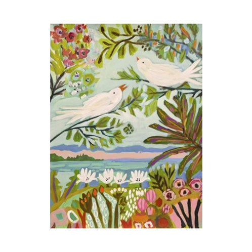 Birds in the Garden II- Canvas Art