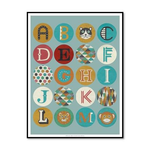 Lucien's Alphabet - Framed & Mounted Art