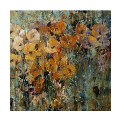 Amber Poppy Field II - Canvas Art