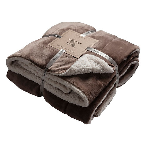 Eastender Throw - Taupe