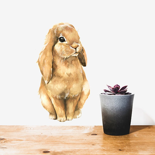 Brown Bunny - Kids Wall Stickers