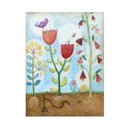 Whimsical Flower Garden I - Canvas Art