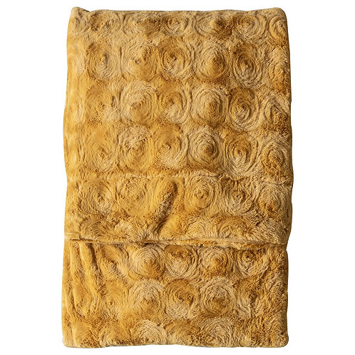 Haze Fur Throw - Ochre