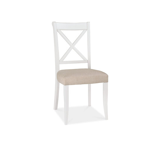 Hampstead Two Tone X Back Chair (Pair) - Sand Fabric