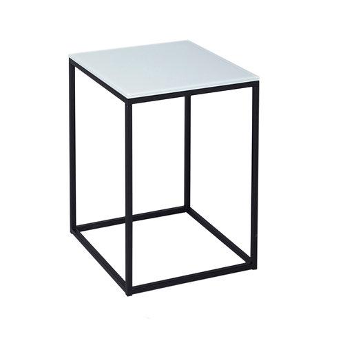 Kensal Square Side Table - Matt Black Frame