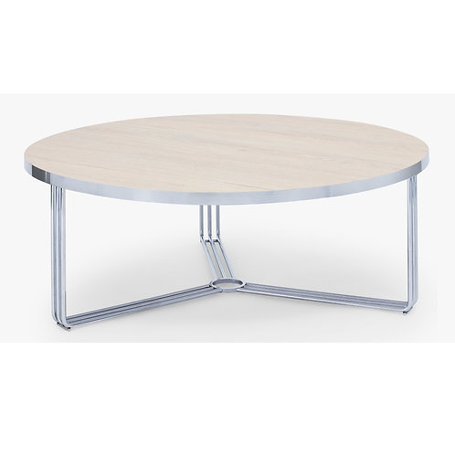 Large Finn Circular Coffee Table - Chrome Frame