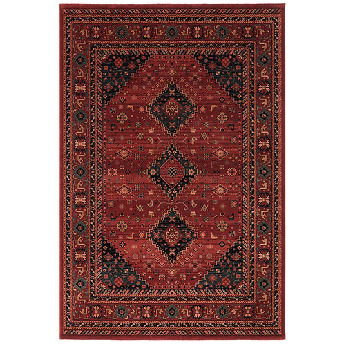 Kashqui VII Rug - Dark Red