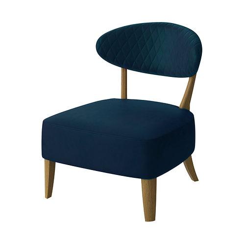 Margot Casual Chair - Dark Blue Velvet Fabric