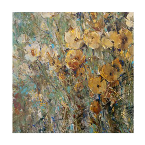 Amber Poppy Field I - Canvas Art