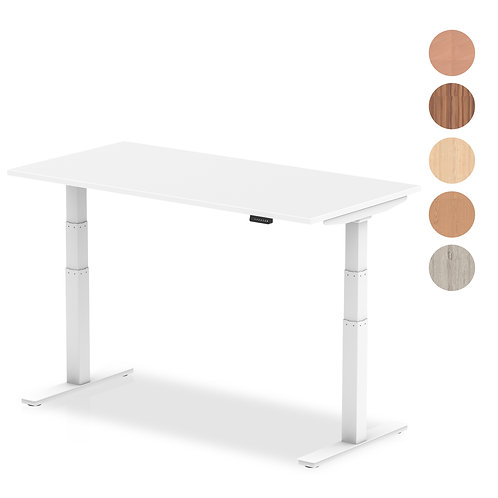 Air Desk with adjustable height and white legs