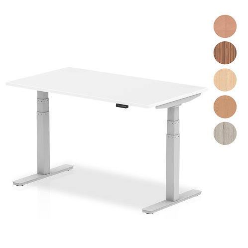 Air Desk with adjustable height and silver legs