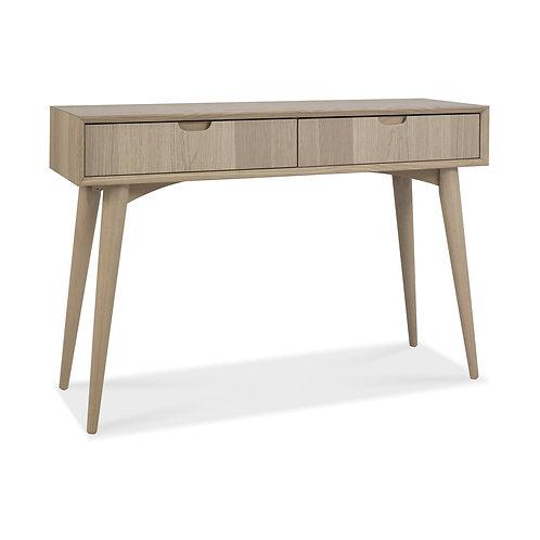 Dansk Scandi Oak Console Table With Drawers