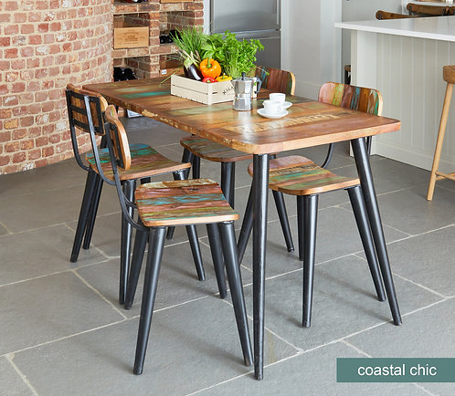 Coastal Chic Large Rectangular Dining Table