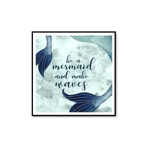 Mermaid Inspirations I - Framed & Mounted Art