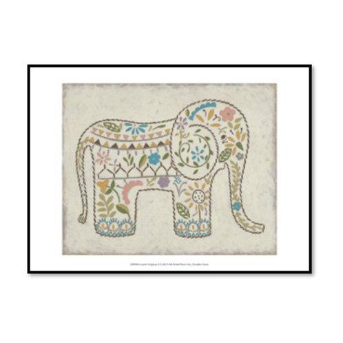 Laurel's Elephant I - Framed & Mounted Art