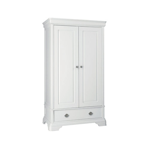 Chantilly White Double Wardrobe - Signature Collection