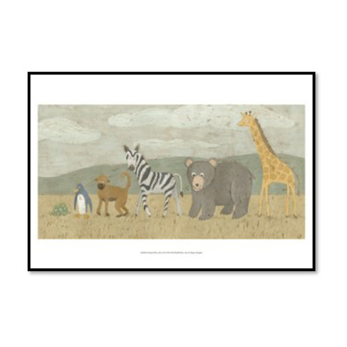 Animals All in a Row II - Framed & Mounted