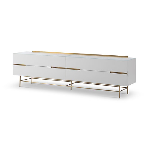 Alberto Four Drawer Low Sideboard - White