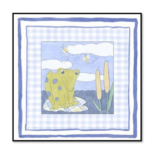 Frog with Plaid II - Framed & Mounted Art