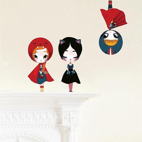 3 Dolls - Kids Wall Stickers II