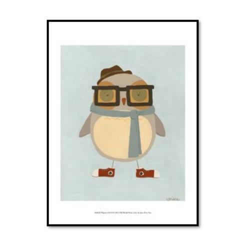 Hipster Owl II - Framed & Mounted Art