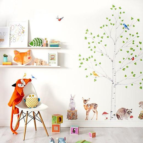 Woodland Tree & Animals II - Kids Wall Stickers