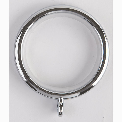 35 mm Neo Curtain Pole Ring - Pack of 6 - Chrome