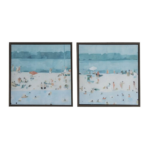 Beach Day - Canvas Art in Frame