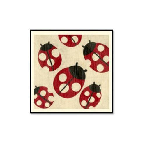 Best Friends- Ladybugs- Framed & Mounted Art