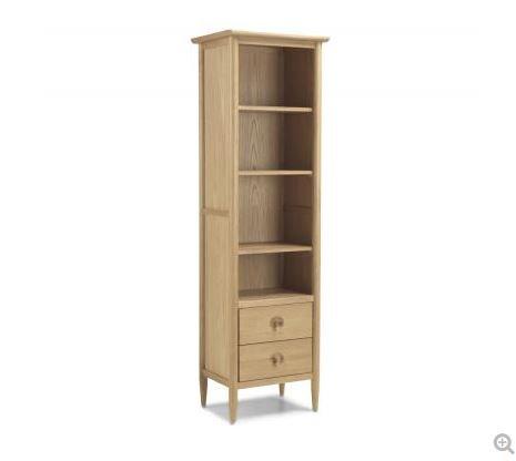 Skien Oak - Slim Bookcase with Drawer