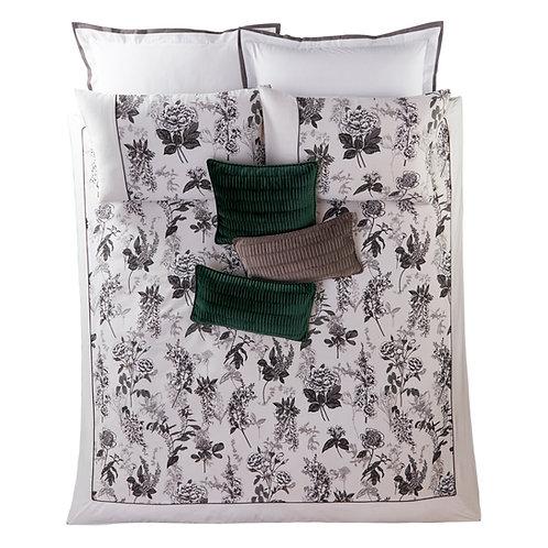 Illustrated Floral Print Standard Pillowcase Pair