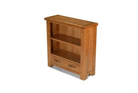 Earlswood Oak - Low Bookcase with Drawer