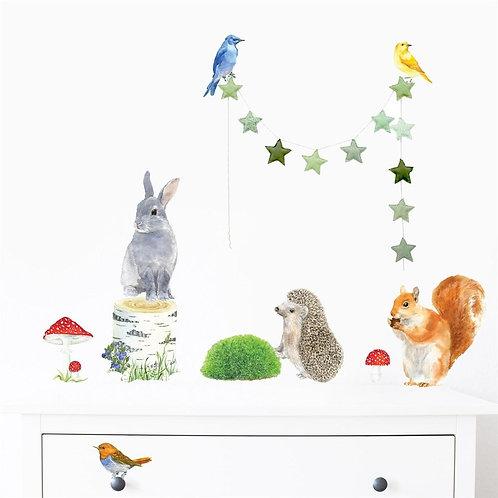 Small Woodland Animals - Kids Wall Stickers
