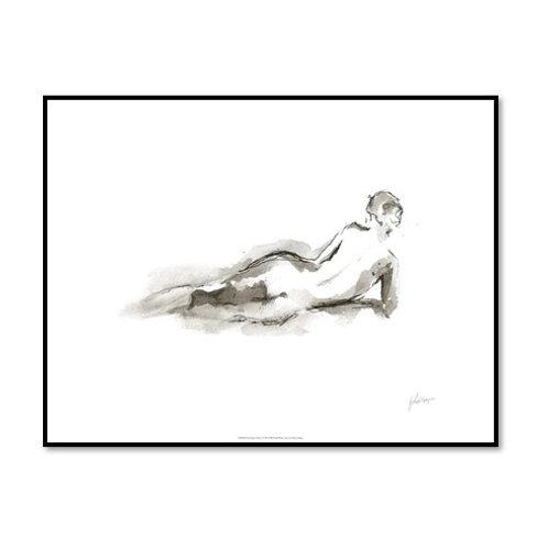 Ink Figure Study I - Framed & Mounted