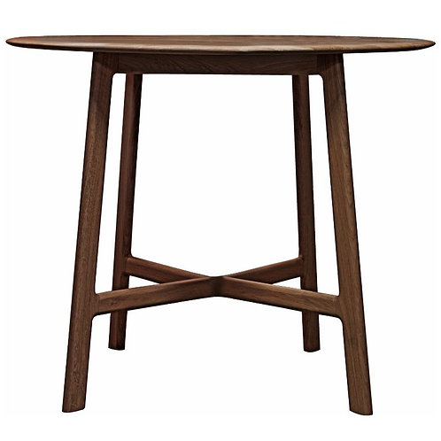Atletico Round Dining Table - Walnut