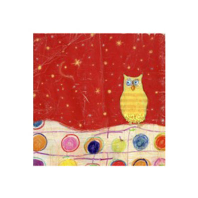 Feathers, Dots and Stripes I- Canvas Art