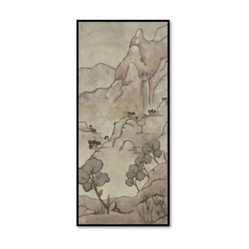 Chinoiserie Landscape I  - Framed & Mounted