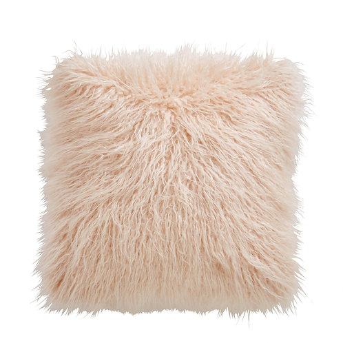 Faux Mongolian Blush Cushion