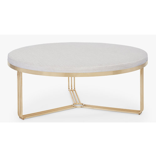 Small Finn Circular Coffee Table or Stool - Brass Frame