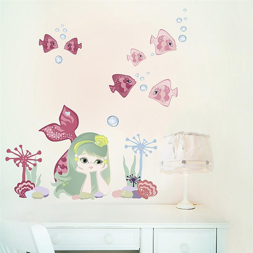 Mermaid - Kids Wall Stickers