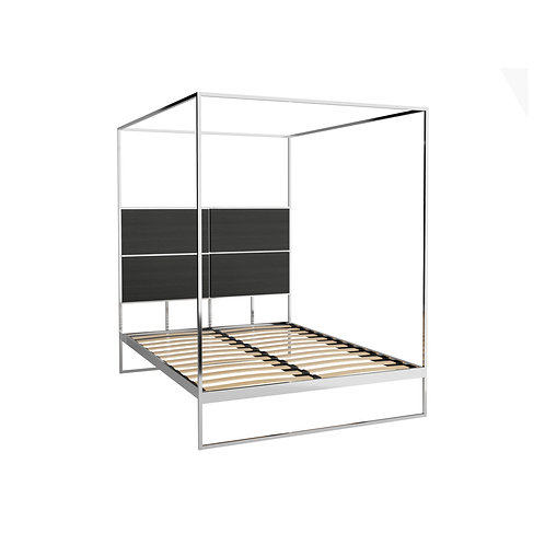 King Federico Canopy Bed in Polished Frame