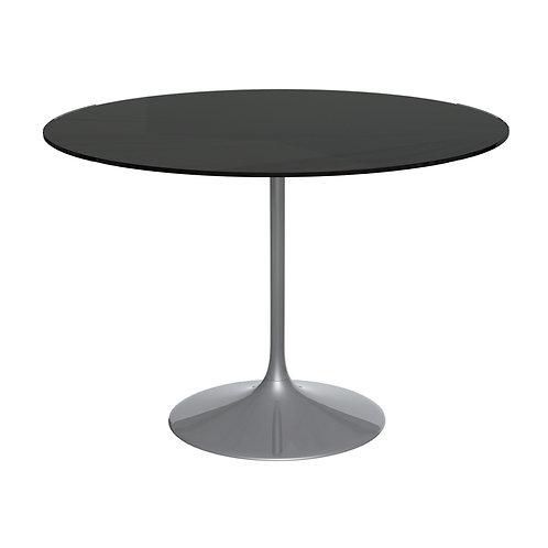 Swan Large Circular Dining Table -  Black Chrome Base