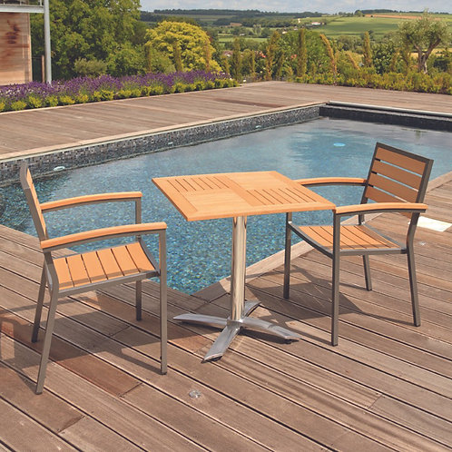 2 Seater Tea For Two Set in Teak Asian