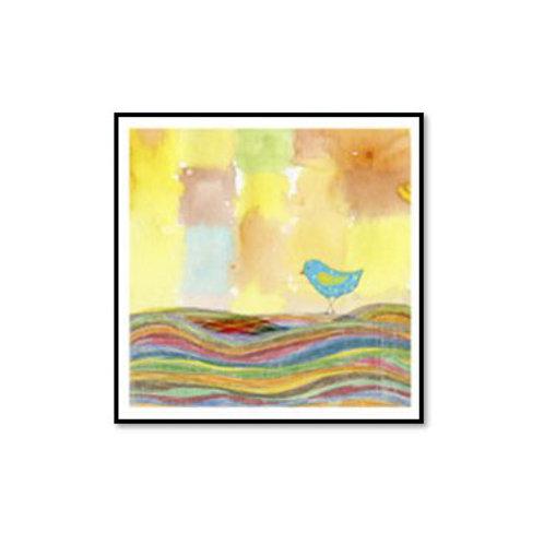 Feathers, Dots & Stripes IX - Framed & Mounted Art